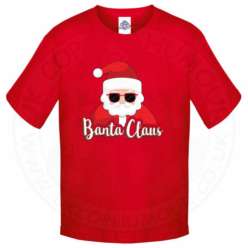 Kids BANTA CLAUS T-Shirt - Red, 12-13 Years