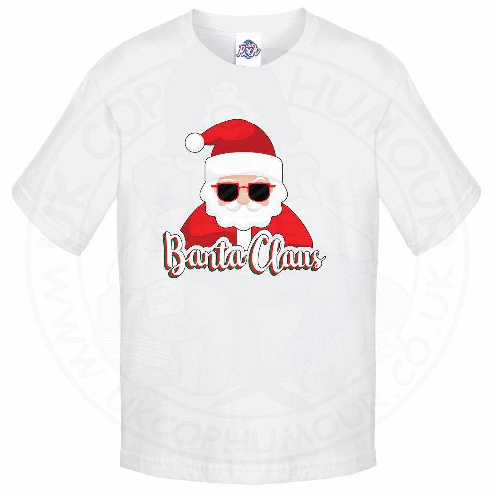 Kids BANTA CLAUS T-Shirt - White, 12-13 Years