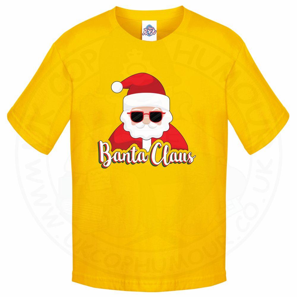 Kids BANTA CLAUS T-Shirt - Yellow, 12-13 Years