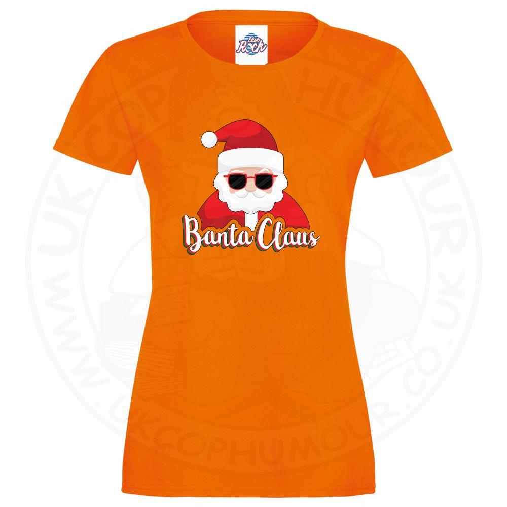 Ladies BANTA CLAUS T-Shirt - Orange, 18