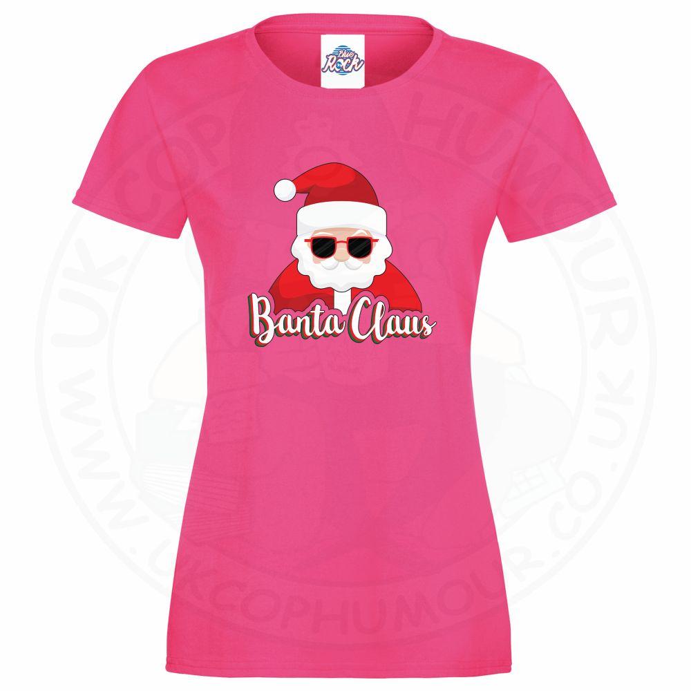 Ladies BANTA CLAUS T-Shirt - Pink, 18