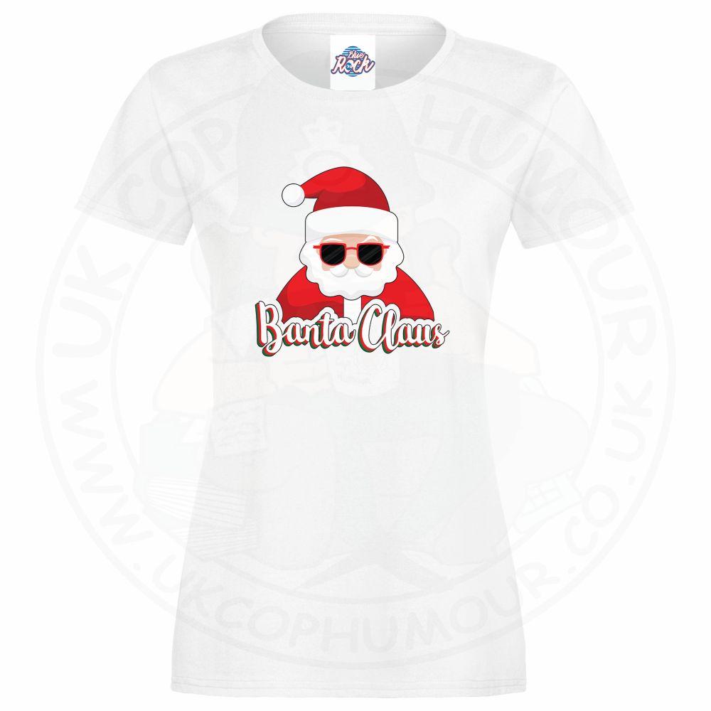Ladies BANTA CLAUS T-Shirt - White, 18