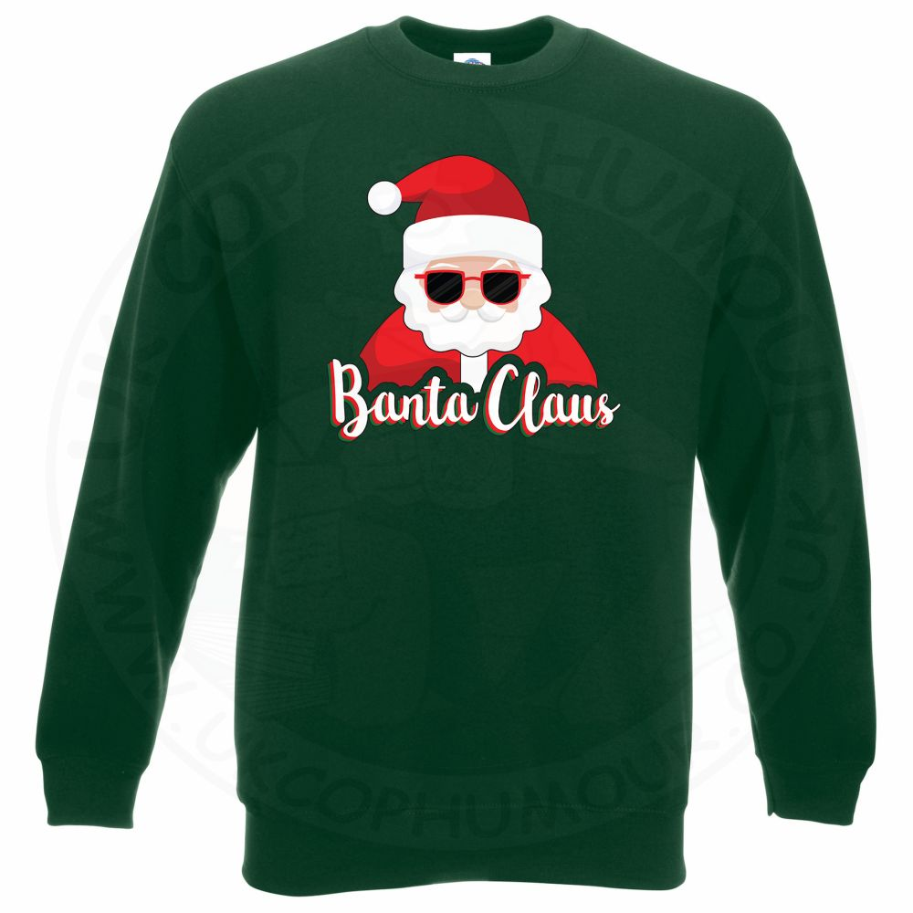 BANTA CLAUS Sweatshirt - Bottle Green, 2XL