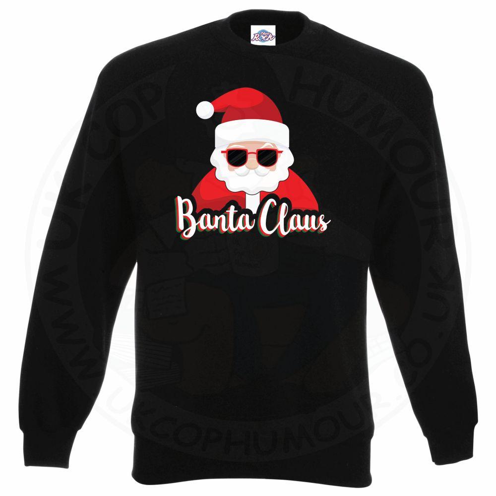 BANTA CLAUS Sweatshirt - Black, 3XL