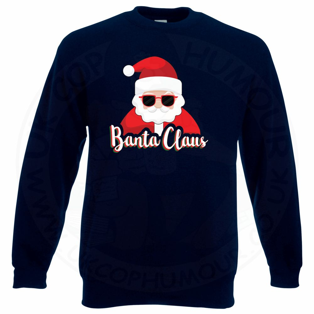 BANTA CLAUS Sweatshirt - Navy, 3XL