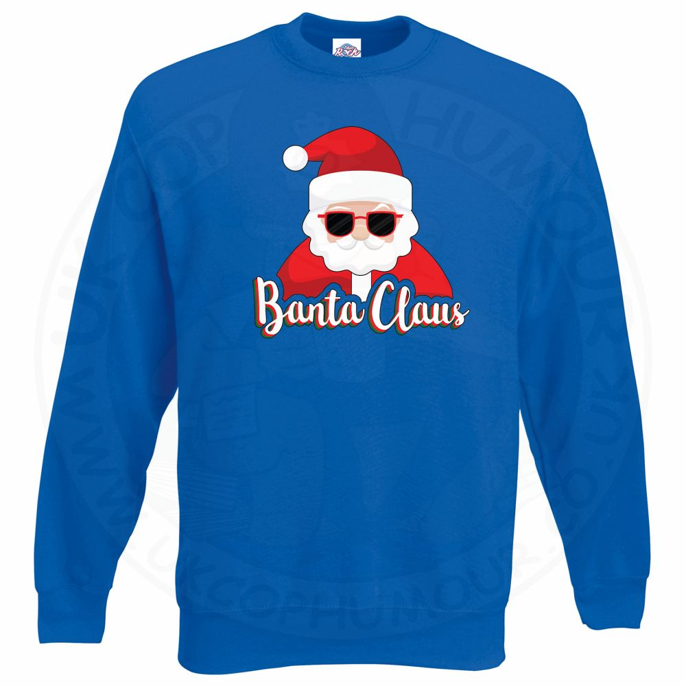 BANTA CLAUS Sweatshirt - Royal Blue, 2XL