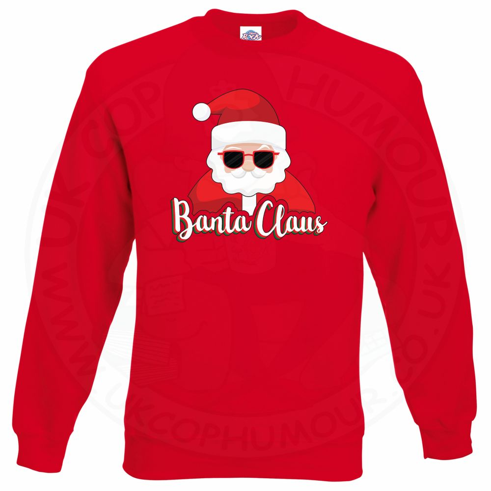 BANTA CLAUS Sweatshirt - Red, 2XL