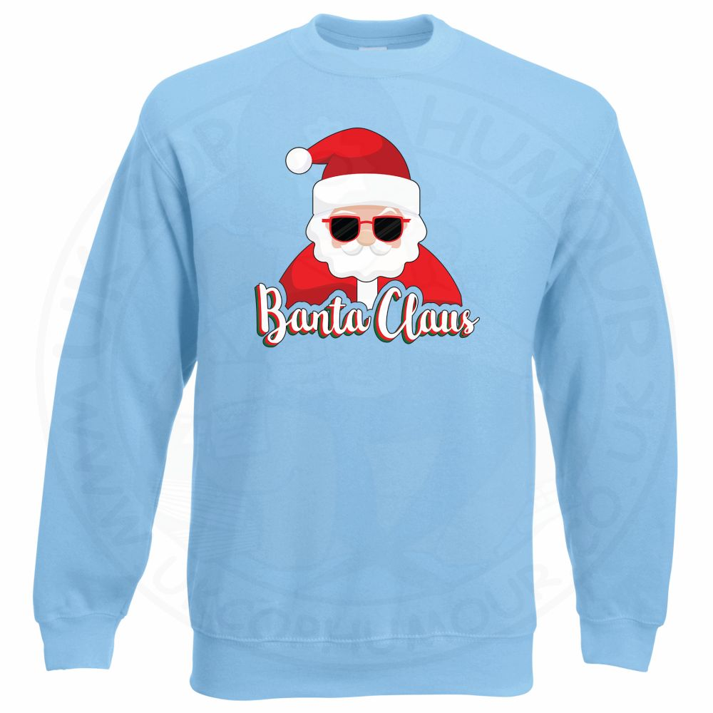 BANTA CLAUS Sweatshirt - Sky Blue, 2XL