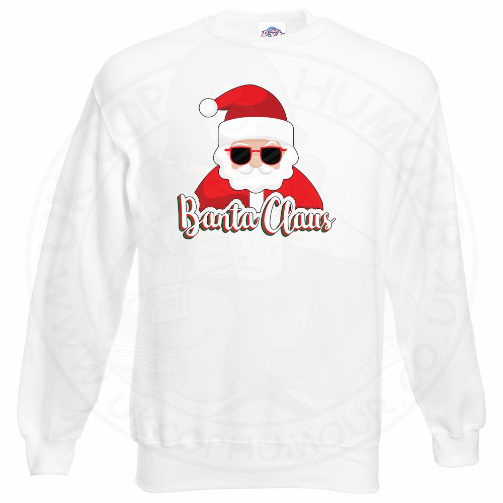 BANTA CLAUS Sweatshirt - White, 3XL