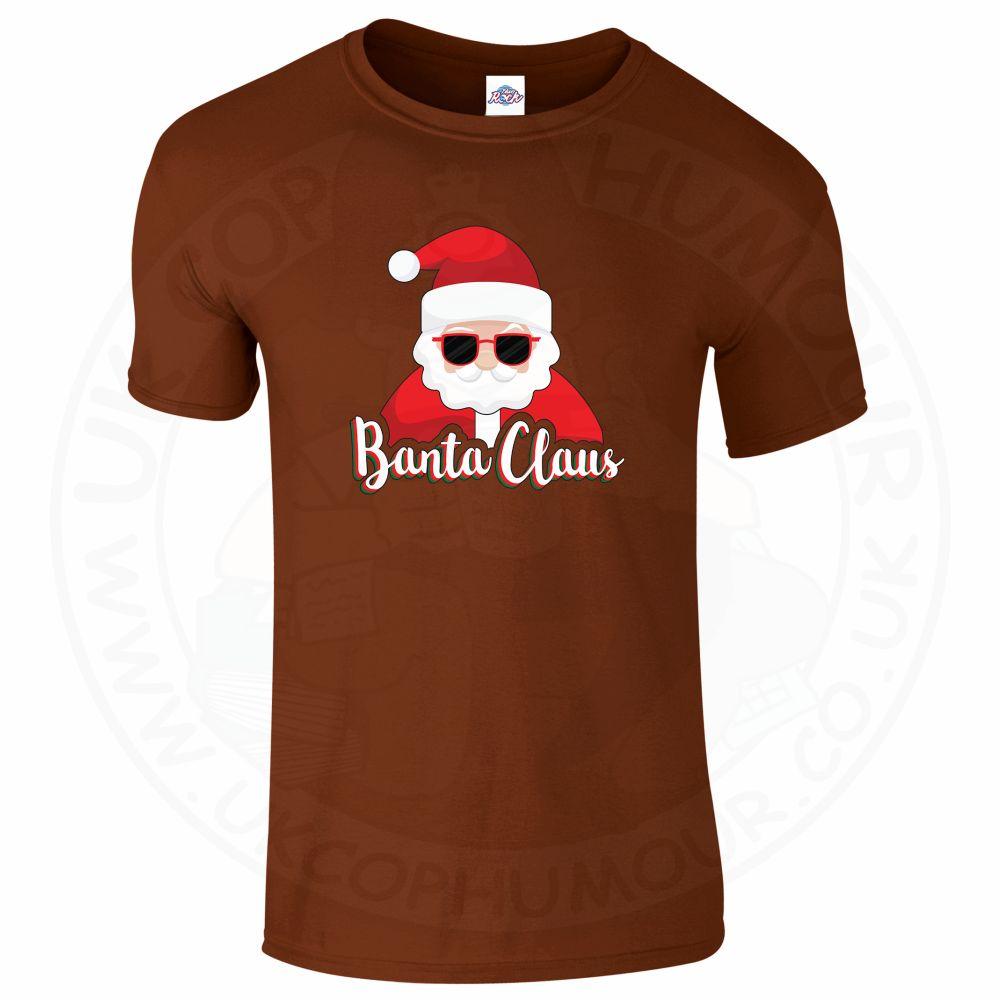 Mens BANTA CLAUS T-Shirt - Chestnut, 2XL