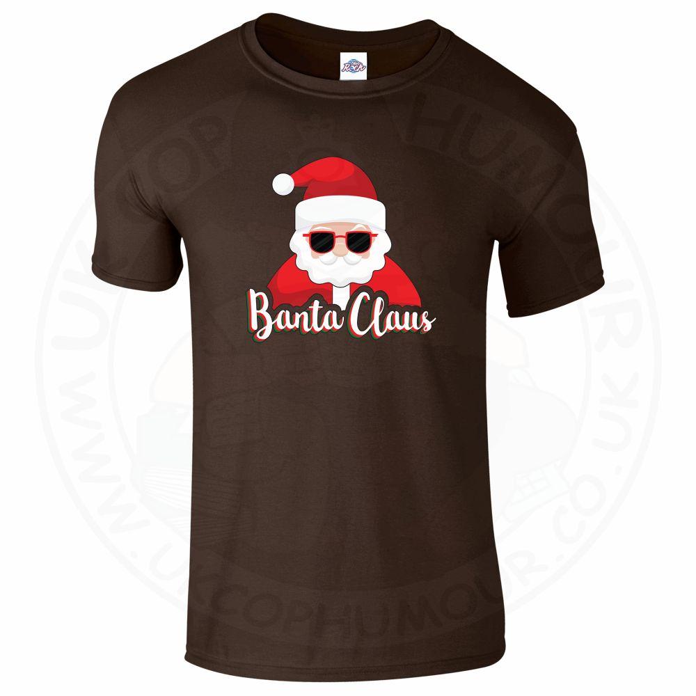 Mens BANTA CLAUS T-Shirt - Dark Chocolate, 2XL