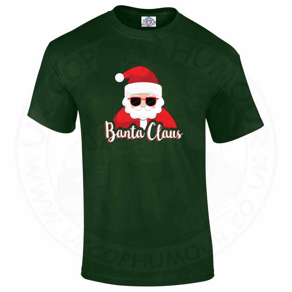 Mens BANTA CLAUS T-Shirt - Forest Green, 2XL