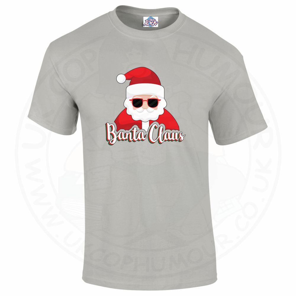 Mens BANTA CLAUS T-Shirt - Grey, 5XL