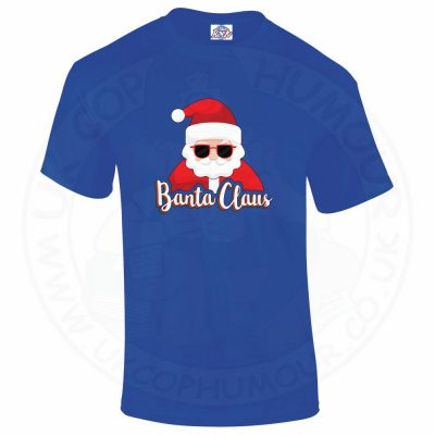 Mens BANTA CLAUS T-Shirt - Royal Blue, 5XL