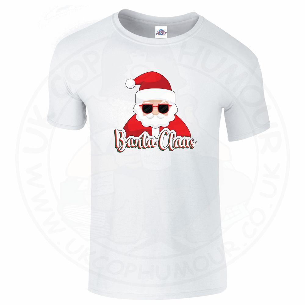 Mens BANTA CLAUS T-Shirt - White, 5XL