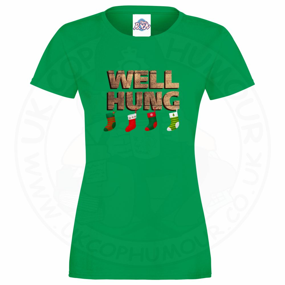 Ladies WELL HUNG T-Shirt - Kelly Green, 18
