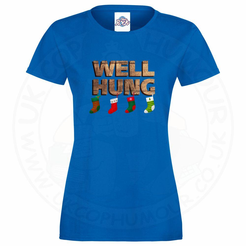 Ladies WELL HUNG T-Shirt - Royal Blue, 18