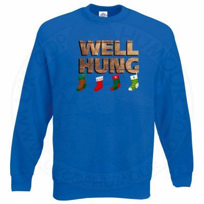 WELL HUNG Sweatshirt - Royal Blue, 2XL