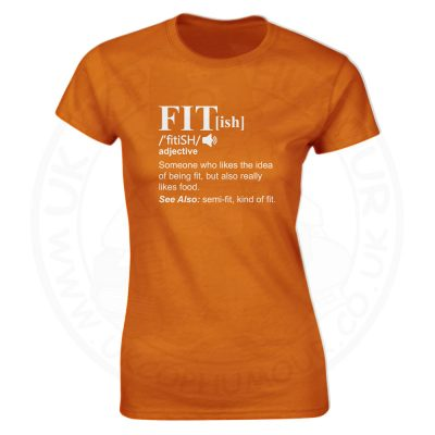 Ladies FIT[ish] Definition T-Shirt - Orange, 18