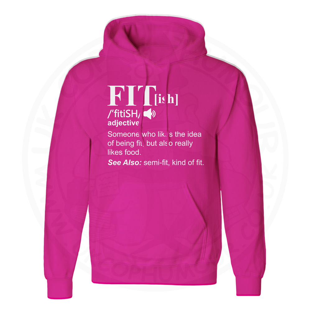 Unisex FIT[ish] Definition Hoodie - Hot Pink, 2XL