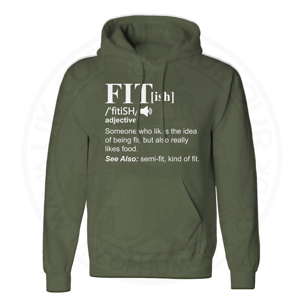 Unisex FIT[ish] Definition Hoodie - Olive Green, 2XL