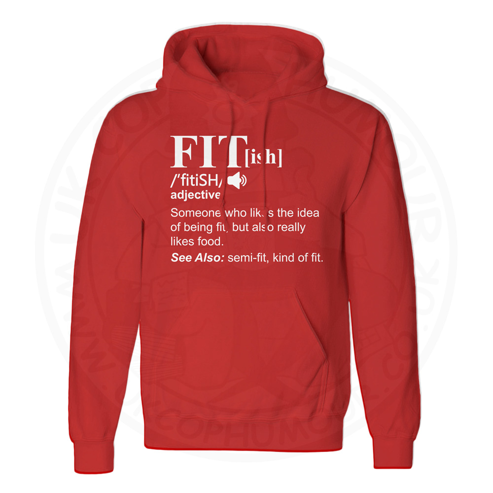 Unisex FIT[ish] Definition Hoodie - Red, 3XL
