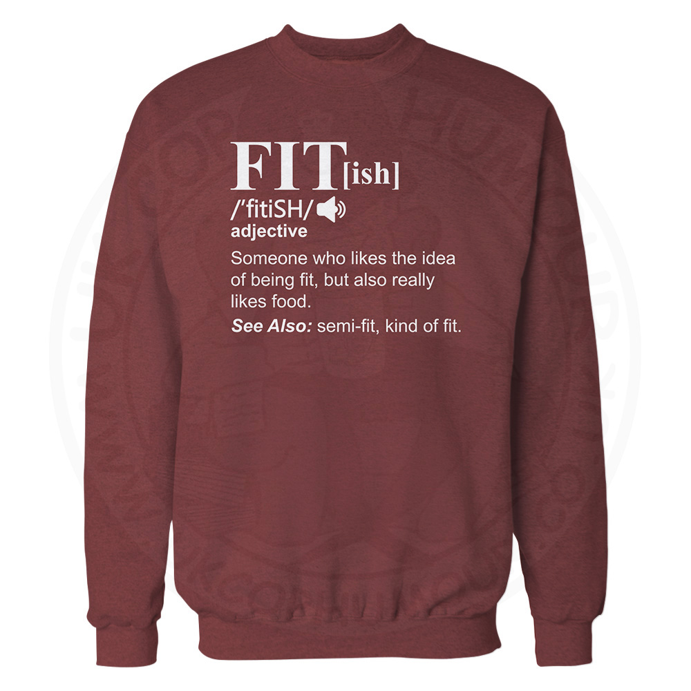 FIT[ish] Definition Sweatshirt - Maroon, 2XL