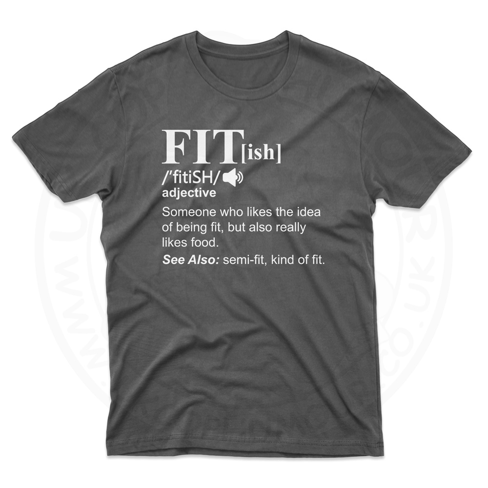 Mens FIT[ish] Definition T-Shirt - Black, 5XL
