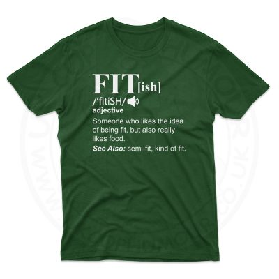 Mens FIT[ish] Definition T-Shirt - Forest Green, 2XL