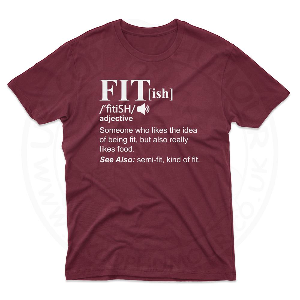 Mens FIT[ish] Definition T-Shirt - Maroon, 2XL