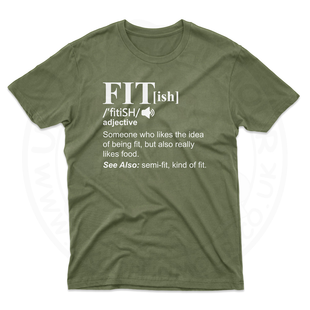 Mens FIT[ish] Definition T-Shirt - Military Green, 2XL