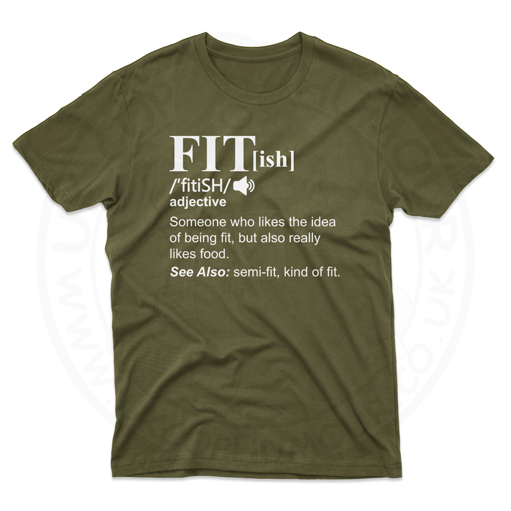 Mens FIT[ish] Definition T-Shirt - Olive Green, 2XL