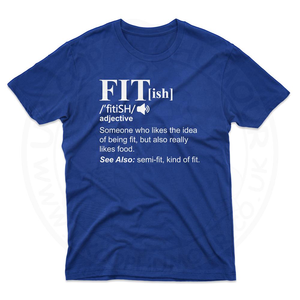 Mens FIT[ish] Definition T-Shirt - Royal Blue, 5XL