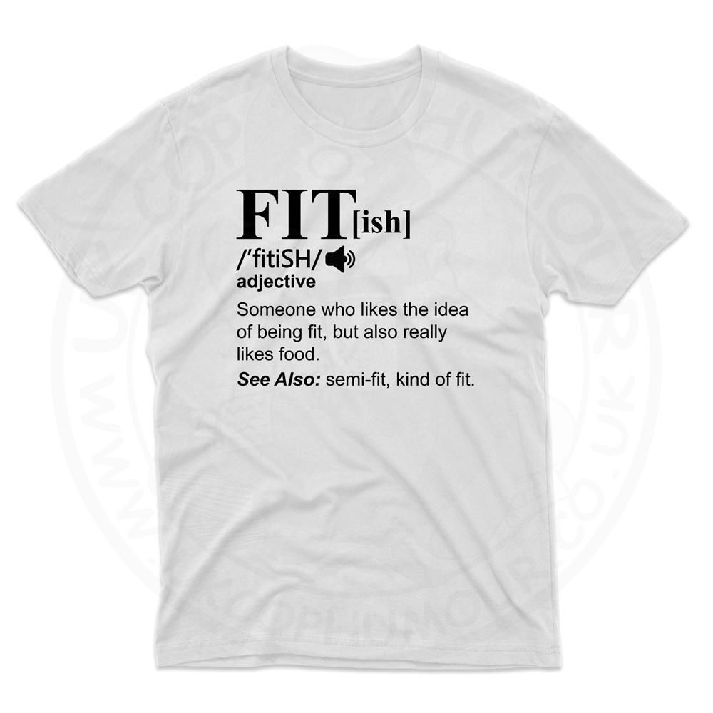 Mens FIT[ish] Definition T-Shirt - White, 5XL