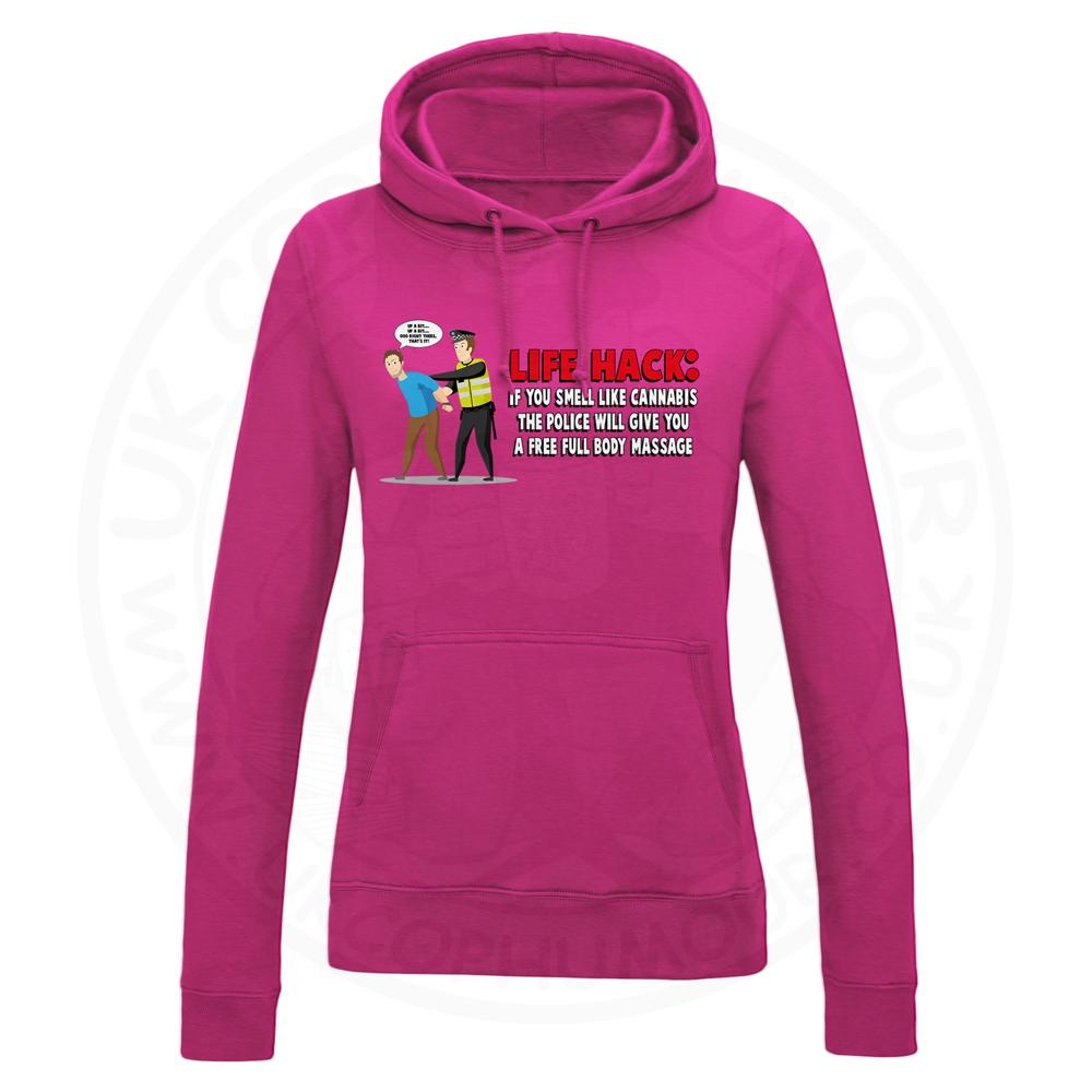 Ladies Free Body Massage Hoodie - Hot Pink, 18