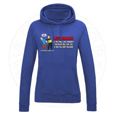 Ladies Free Body Massage Hoodie - Royal Blue, 18