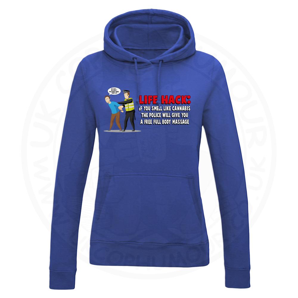 Ladies Free Body Massage Hoodie - Royal Blue, 18