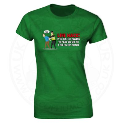 Ladies Free Body Massage T-Shirt - Kelly Green, 18
