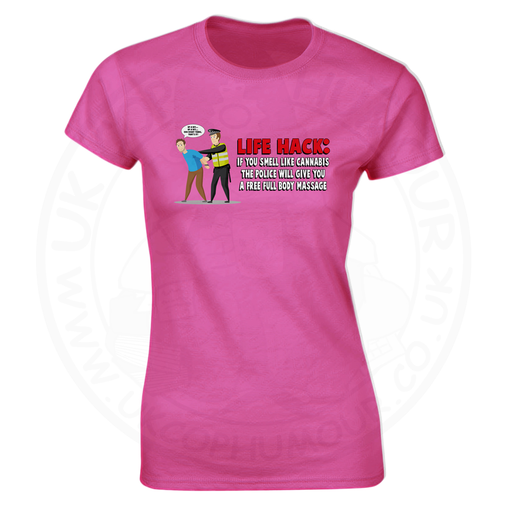 Ladies Free Body Massage T-Shirt - Pink, 18
