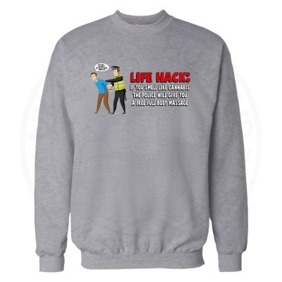 Free Body Massage Sweatshirt - Grey, 3XL