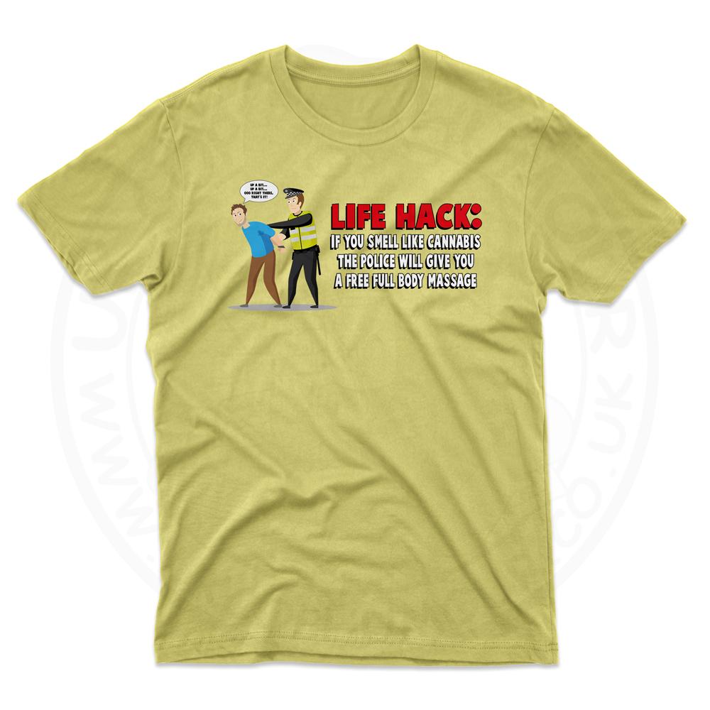 Mens Free Body Massage T-Shirt - Daisy, 2XL
