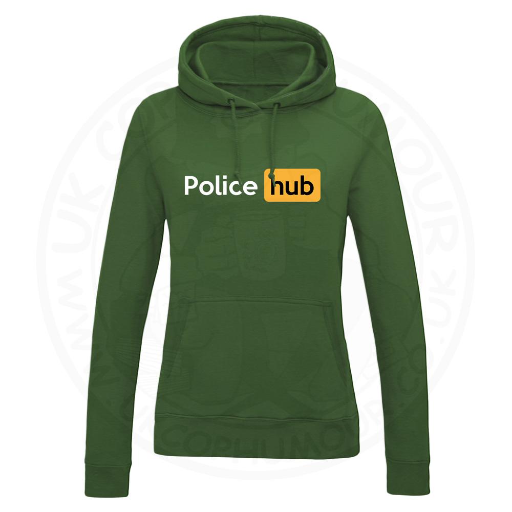 Ladies Police Hub Hoodie - Bottle Green, 18