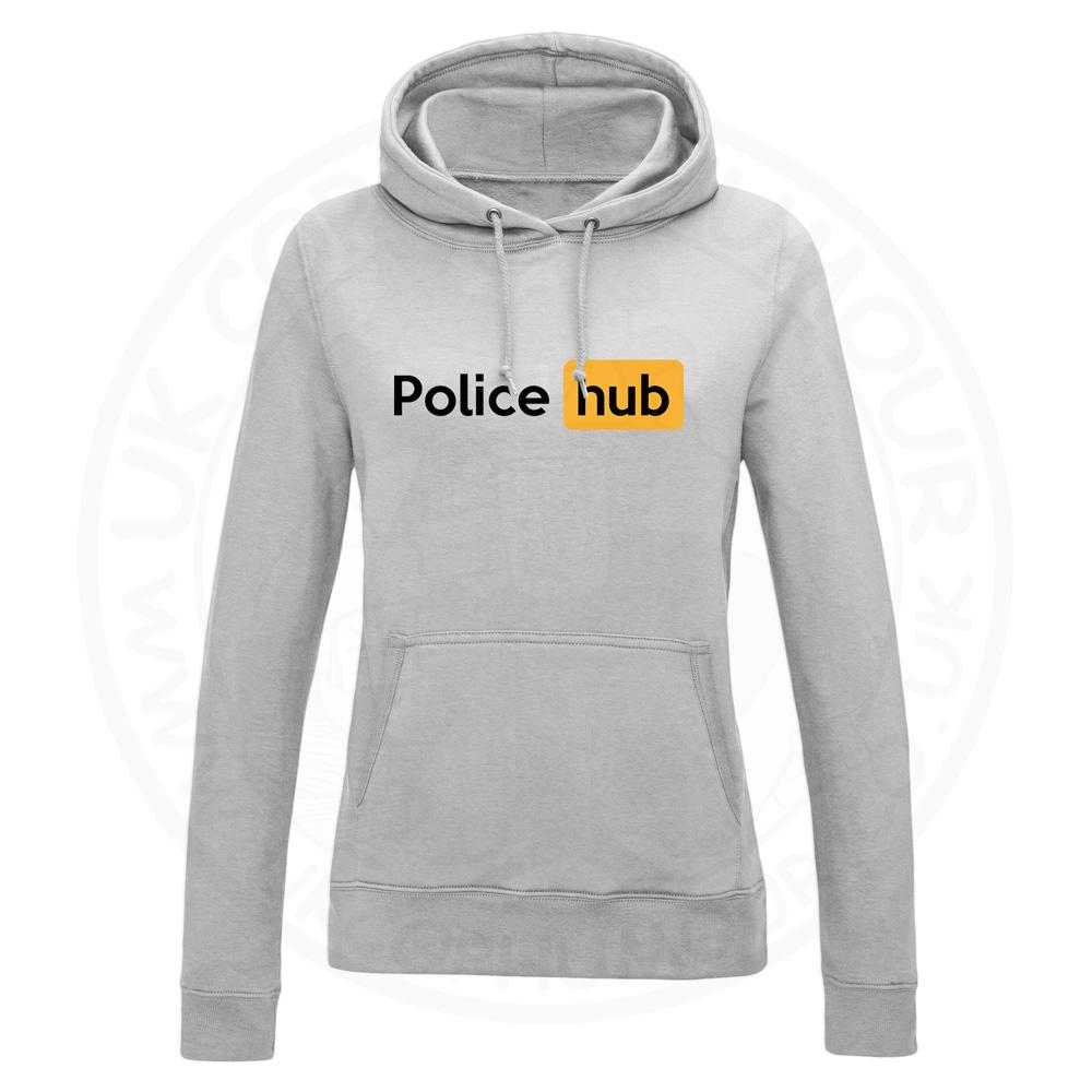 Ladies Police Hub Hoodie - Grey, 18