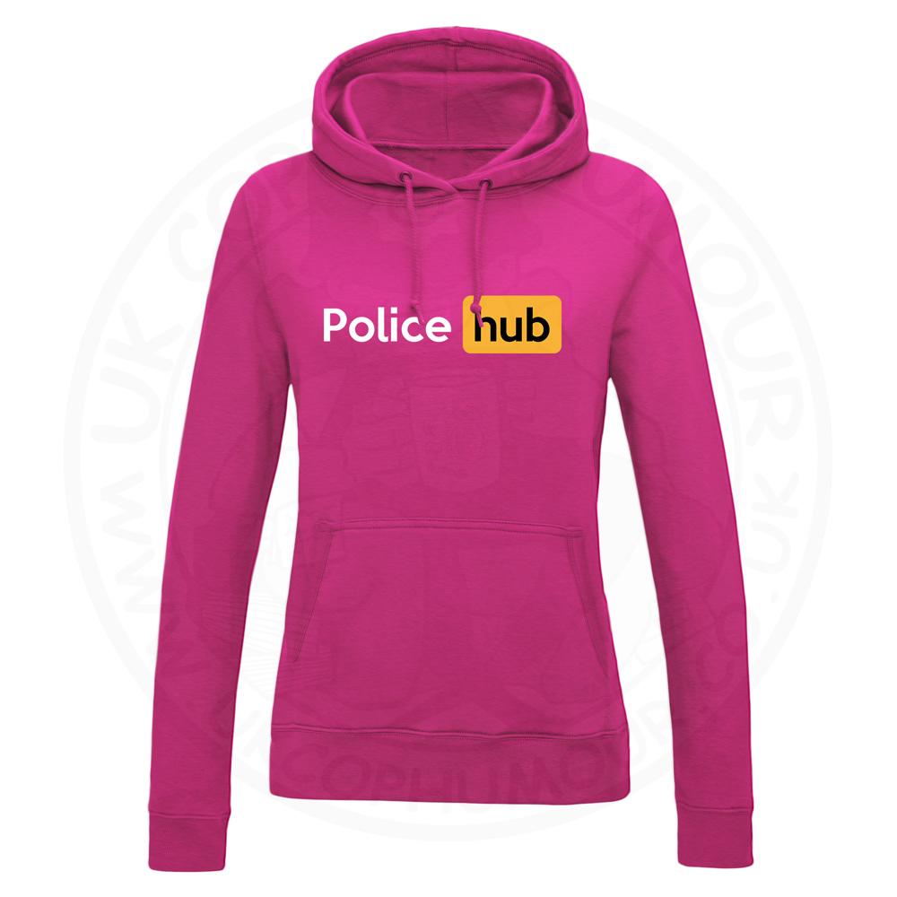 Ladies Police Hub Hoodie - Hot Pink, 18