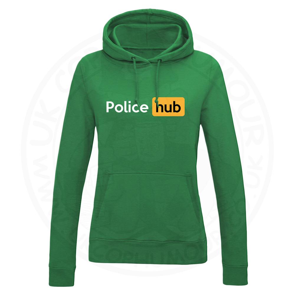 Ladies Police Hub Hoodie - Kelly Green, 18