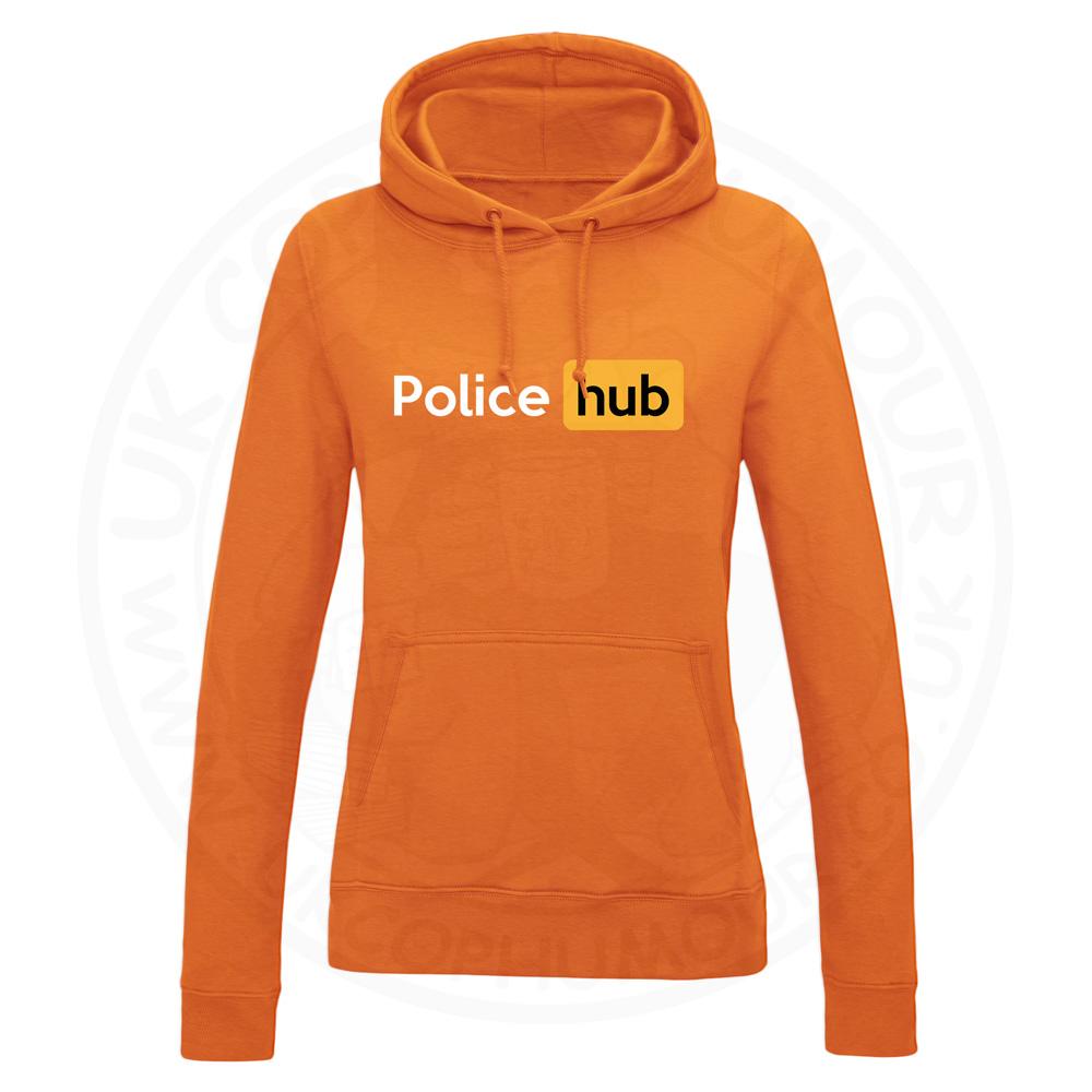Ladies Police Hub Hoodie - Orange, 18