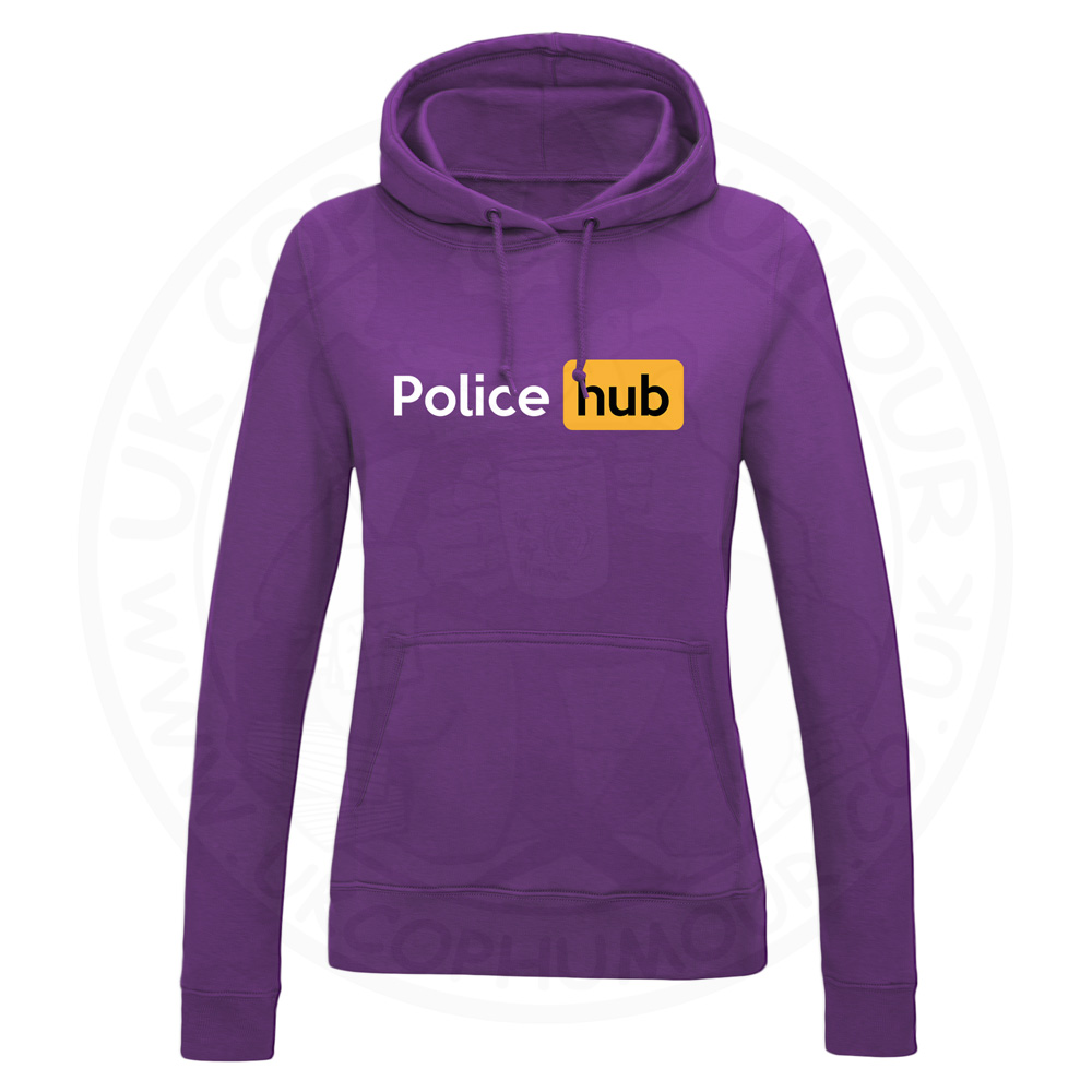 Ladies Police Hub Hoodie - Purple, 18