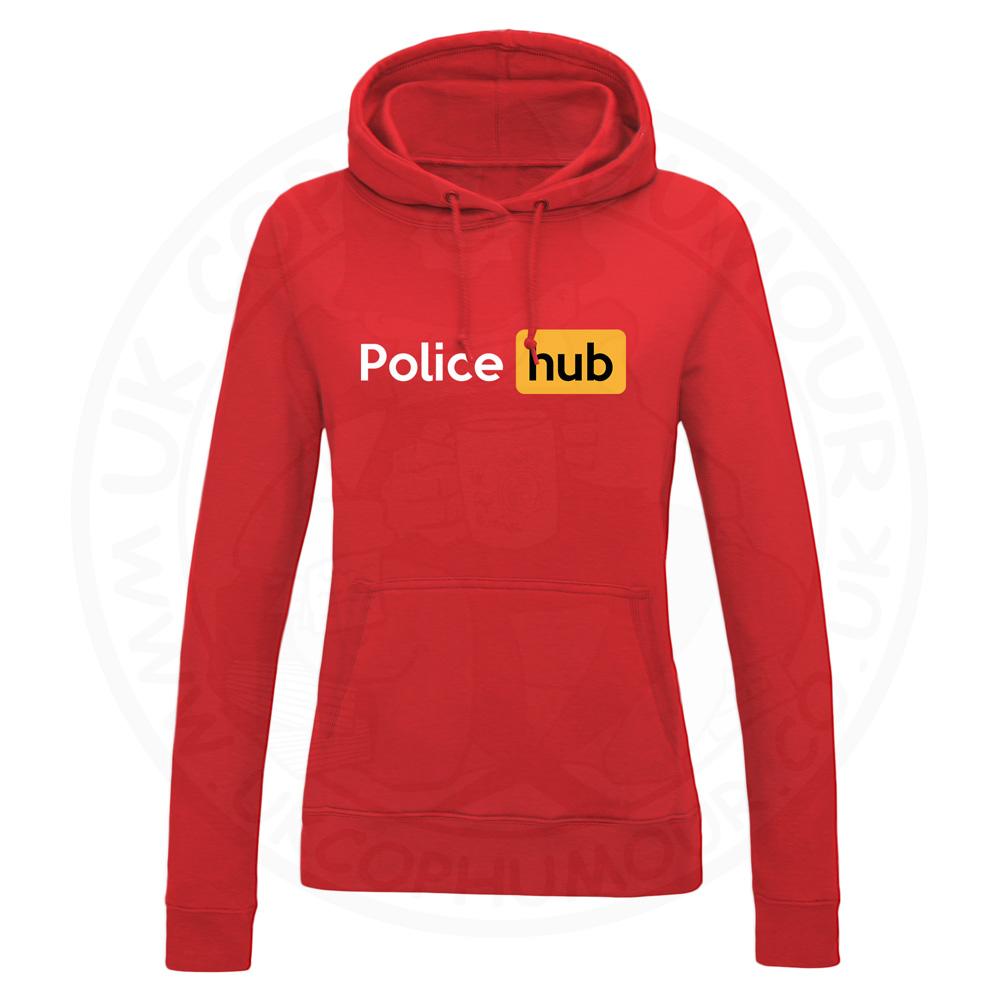 Ladies Police Hub Hoodie - Red, 18
