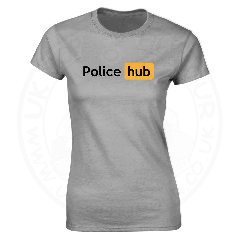 Ladies Police Hub T-Shirt - Heather Grey, 18