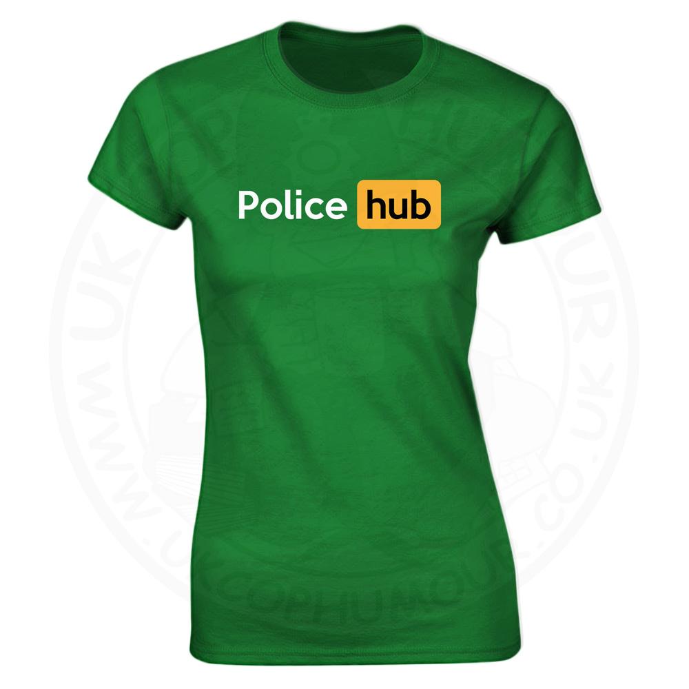Ladies Police Hub T-Shirt - Kelly Green, 18